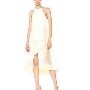 Halston Heritage Sleeveless High Neck Dress,Sheer